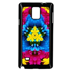 Flowers Kaleidoscope Mandala Samsung Galaxy Note 4 Case (black) by Mariart