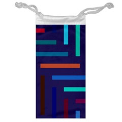 Line Background Abstract Jewelry Bag
