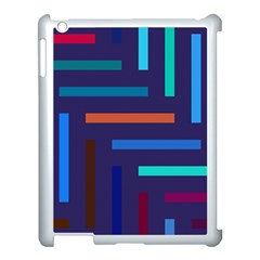 Line Background Abstract Apple Ipad 3/4 Case (white) by Mariart