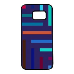 Line Background Abstract Samsung Galaxy S7 Black Seamless Case by Mariart