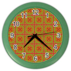 Western Pattern Backdrop Color Wall Clock