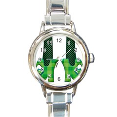 Saint Patrick S Day March Round Italian Charm Watch