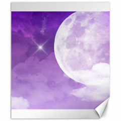 Purple Sky Star Moon Clouds Canvas 20  X 24  by Mariart