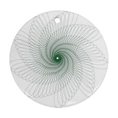 Spirograph Pattern Ornament (round)
