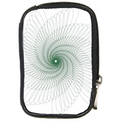 Spirograph Pattern Compact Camera Leather Case by Mariart