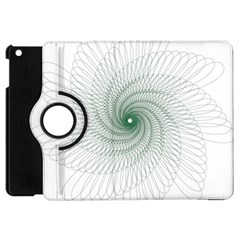 Spirograph Pattern Apple Ipad Mini Flip 360 Case by Mariart