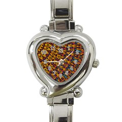 Background Abstract Texture Rainbow Heart Italian Charm Watch by AnjaniArt
