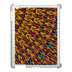 Background Abstract Texture Rainbow Apple Ipad 3/4 Case (white) by AnjaniArt