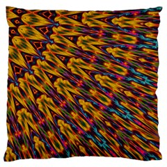 Background Abstract Texture Rainbow Standard Flano Cushion Case (one Side) by AnjaniArt
