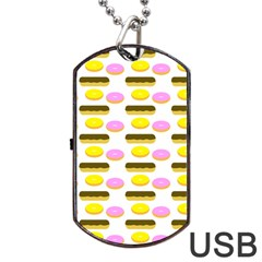 Donuts Fry Cake Dog Tag Usb Flash (one Side)