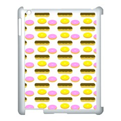 Donuts Fry Cake Apple Ipad 3/4 Case (white) by AnjaniArt