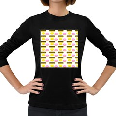 Donuts Fry Cake Women s Long Sleeve Dark T Shirt