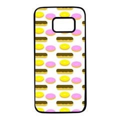 Donuts Fry Cake Samsung Galaxy S7 Black Seamless Case by AnjaniArt