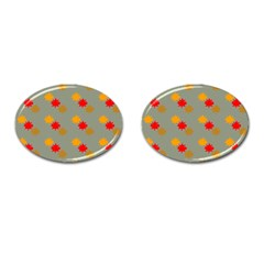 Fall Leaves Autumn Leaves Cufflinks (oval) by AnjaniArt