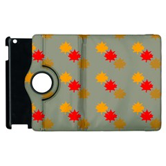Fall Leaves Autumn Leaves Apple Ipad 2 Flip 360 Case by AnjaniArt