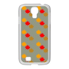 Fall Leaves Autumn Leaves Samsung Galaxy S4 I9500/ I9505 Case (white)