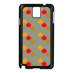 Fall Leaves Autumn Leaves Samsung Galaxy Note 3 N9005 Case (black) by AnjaniArt