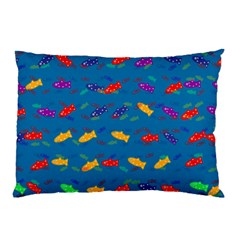 Fish Background Pattern Texture Rainbow Pillow Case (two Sides)