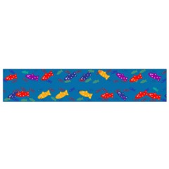 Fish Background Pattern Texture Rainbow Small Flano Scarf