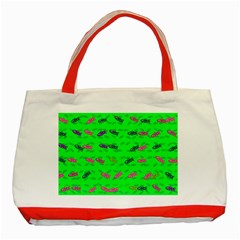 Fish Aquarium Underwater World Classic Tote Bag (red) by AnjaniArt