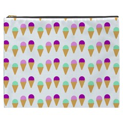 Icecream Background Dessert Summer Cosmetic Bag (xxxl) by AnjaniArt