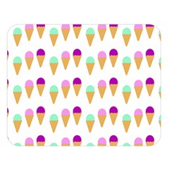 Icecream Background Dessert Summer Double Sided Flano Blanket (large)