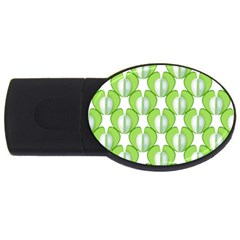 Herb Ongoing Pattern Plant Nature Usb Flash Drive Oval (2 Gb)