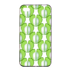 Herb Ongoing Pattern Plant Nature Apple Iphone 4/4s Seamless Case (black) by AnjaniArt