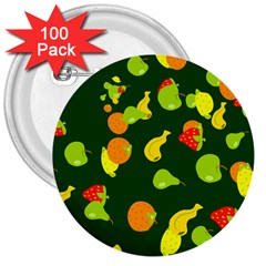 Fruite 3  Buttons (100 Pack)