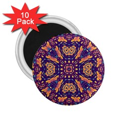 Kaleidoscope Background Design 2 25  Magnets (10 Pack)