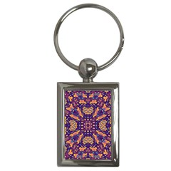 Kaleidoscope Background Design Key Chains (rectangle)  by AnjaniArt