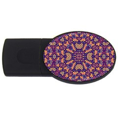 Kaleidoscope Background Design Usb Flash Drive Oval (2 Gb)