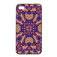 Kaleidoscope Background Design Apple Iphone 4/4s Seamless Case (black) by AnjaniArt
