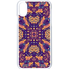 Kaleidoscope Background Design Apple Iphone Xs Seamless Case (white) by AnjaniArt