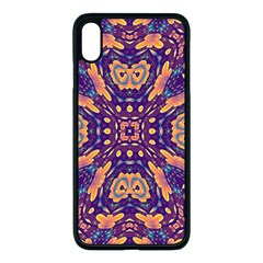 Kaleidoscope Background Design Apple Iphone Xs Max Seamless Case (black) by AnjaniArt