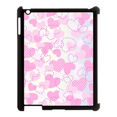 Valentine Background Hearts Bokeh Apple Ipad 3/4 Case (black) by AnjaniArt