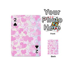 Valentine Background Hearts Bokeh Playing Cards 54 (mini)