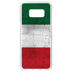 Flag Patriote Quebec Patriot Red Green White Grunge Separatism Samsung Galaxy S8 White Seamless Case by Quebec