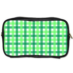 Sweet Pea Green Gingham Toiletries Bag (one Side)