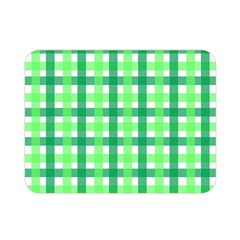 Sweet Pea Green Gingham Double Sided Flano Blanket (mini)  by WensdaiAmbrose