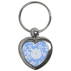 White Dahlias Key Chains (heart)  by WensdaiAddamns