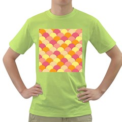 Scallop Fish Scales Scalloped Rainbow Green T Shirt by AnjaniArt