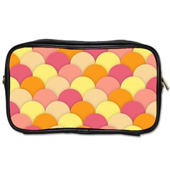 Scallop Fish Scales Scalloped Rainbow Toiletries Bag (one Side)