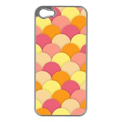 Scallop Fish Scales Scalloped Rainbow Apple Iphone 5 Case (silver)