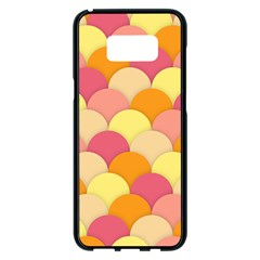 Scallop Fish Scales Scalloped Rainbow Samsung Galaxy S8 Plus Black Seamless Case