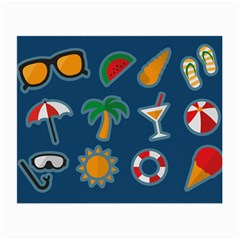 Summer Stickers Motives Cute Small Glasses Cloth