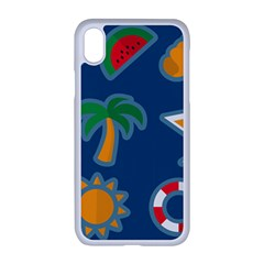 Summer Stickers Motives Cute Apple Iphone Xr Seamless Case (white)