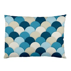 Scallops Background Wallpaper Blue Pillow Case