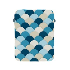 Scallops Background Wallpaper Blue Apple Ipad 2/3/4 Protective Soft Cases