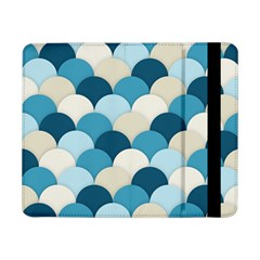 Scallops Background Wallpaper Blue Samsung Galaxy Tab Pro 8 4  Flip Case by Jojostore
